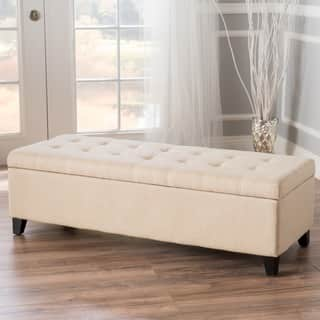 Mission Tufted Fabric Storage Ottoman Bench by Christopher Knight Home|https://ak1.ostkcdn.com/images/products/8035205/P15395340.jpg?impolicy=medium