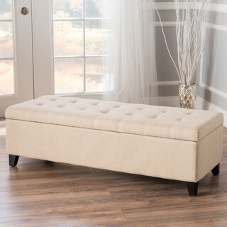 Mission Tufted Fabric Storage Ottoman Bench by Christopher Knight Home (5 options available)