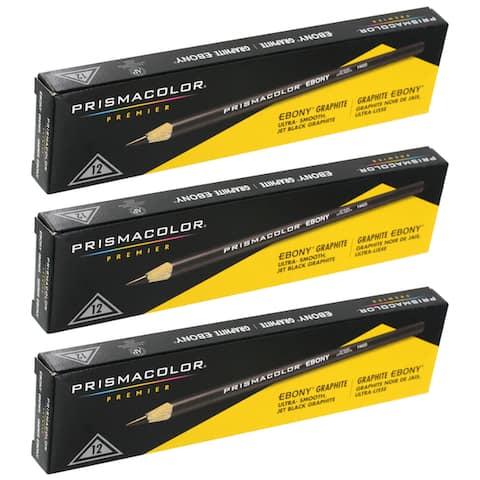 Prismacolor 12 Pack Premier Ebony Graphite Sketching Pencils