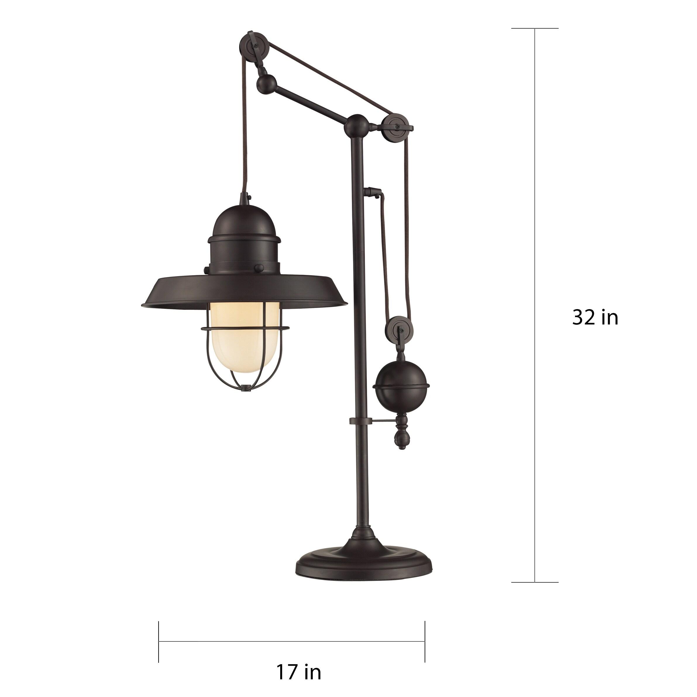 Dimond Lighting Oil Rubbed Bronze Metal 1 Light Table Lamp 17 W X 12 D 32 H