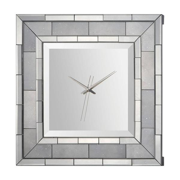 Mirrored Wall Clock mandarin mirror wall clock - free shipping today - overstock