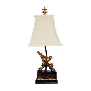 Dimond Lighting Tall 1-light 60-watt Gold Leaf/ Black Table Lamp