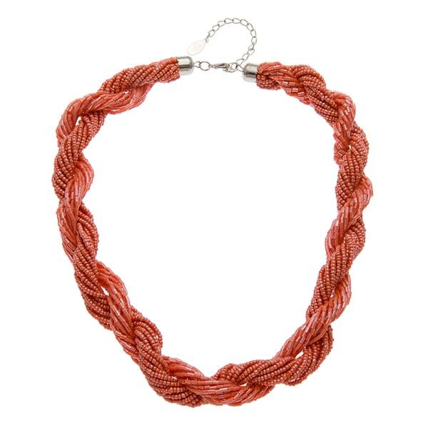 Kate Bissett Orange Acrylic Bead Multi-strand Twist