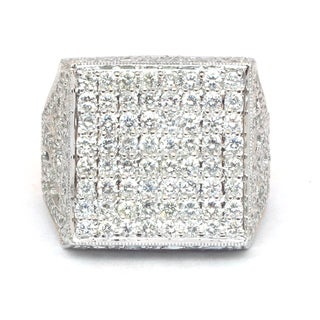 Sonia Bitton 18k Gold 2 3/5ct TDW Diamond Square Ring (G-H, SI1-SI2)