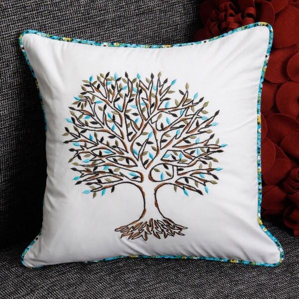 Tree Design Cotton Pillow Cover (India)