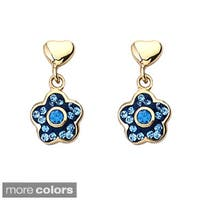 Molly Glitz Goldplated Children's Crystal Flower Earrings