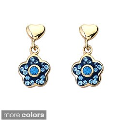 Molly Glitz Goldplated Children's Crystal Flower Earrings (More options available)