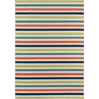 Momeni Baja Stripe Multicolor Indoor/Outdoor Area Rug  (2'3 x 4'6)