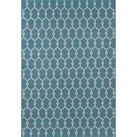 Clay Alder Home Balthazar Trellis Blue Indoor/ Outdoor Area Rug (1'8 x 3'7)