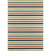 "Momeni Baja Stripe Multicolor Indoor/Outdoor Area Rug 3'11"" X 5'7"" - 3'11"" x 5'7"""