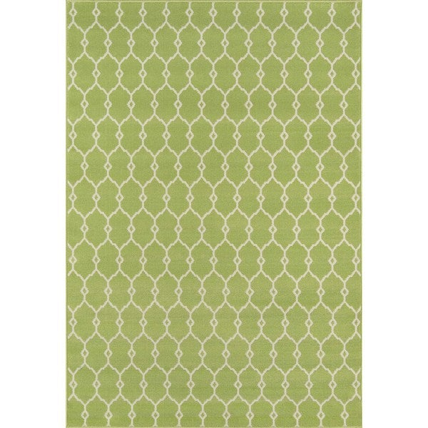 Clay Alder Home Balthazar Trellis Green Indoor/ Outdoor Area Rug (7'10 x 10'10) - 7'10 x 10'10