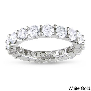 Miadora Signature Collection 14k Gold 3ct TDW Certified Diamond Eternity Wedding Band