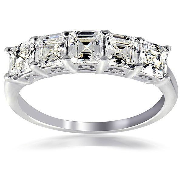 Fashion Size 5 Ladies Engagement Style Ring w Silver Tone Plated /& Oval Shape Cubic Zirconia Center Stone 7MM x 5MM /& Total 6 Cubic Side Accent Stones