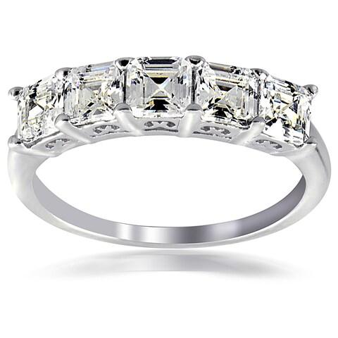 Icz Stonez Silver Asscher-cut Cubic Zirconia Fashion Ring