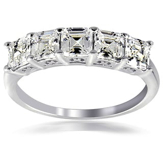 Icz Stonez Silver Asscher-cut Cubic Zirconia Fashion Ring