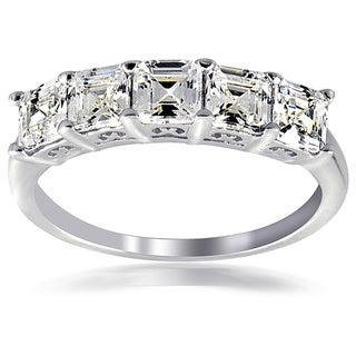 Icz Stonez Silver Asscher-cut Cubic Zirconia Fashion Ring (More options available)