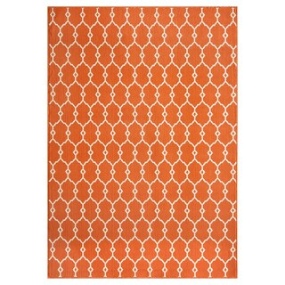 Momeni Baja Trellis Orange Indoor/Outdoor Area Rug  (2'3 x 4'6)