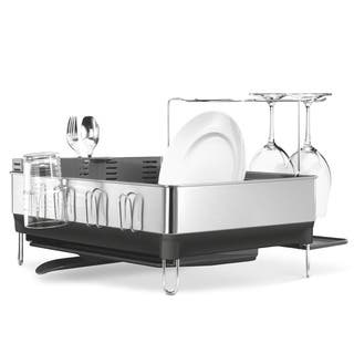 simplehuman Steel Frame Dish Rack with Wine Glass Holder https://ak1.ostkcdn.com/images/products/8035729/P15395757.jpg?impolicy=medium