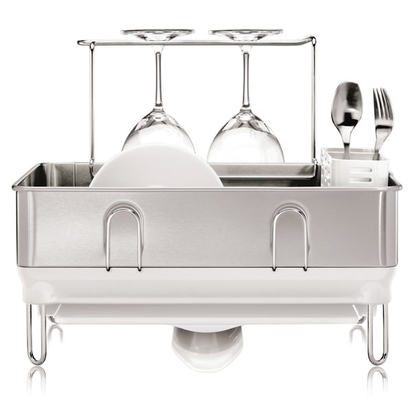 Shop Simplehuman Compact Steel White Frame Dish Rack