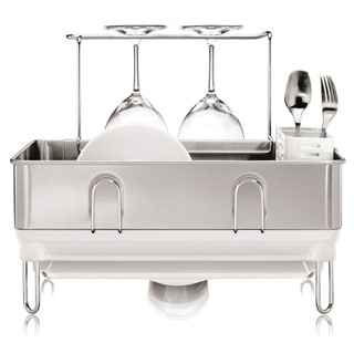 Simplehuman Compact Steel White Frame Dish Rack