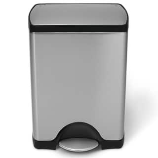 simplehuman Rectangular Step Brushed Stainless Steel Trash Can (8 Gallon)|https://ak1.ostkcdn.com/images/products/8035734/8035734/simplehuman-Rectangular-Step-Brushed-Stainless-Steel-Trash-Can-8-Gallon-P15395761.jpg?impolicy=medium