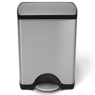 Simplehuman Rectangular Step Brushed Stainless Steel Trash Can 8 Gallon