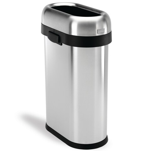 Simplehuman Slim Open Brushed Stainless Steel 13-gallon/50-liter Trash Can