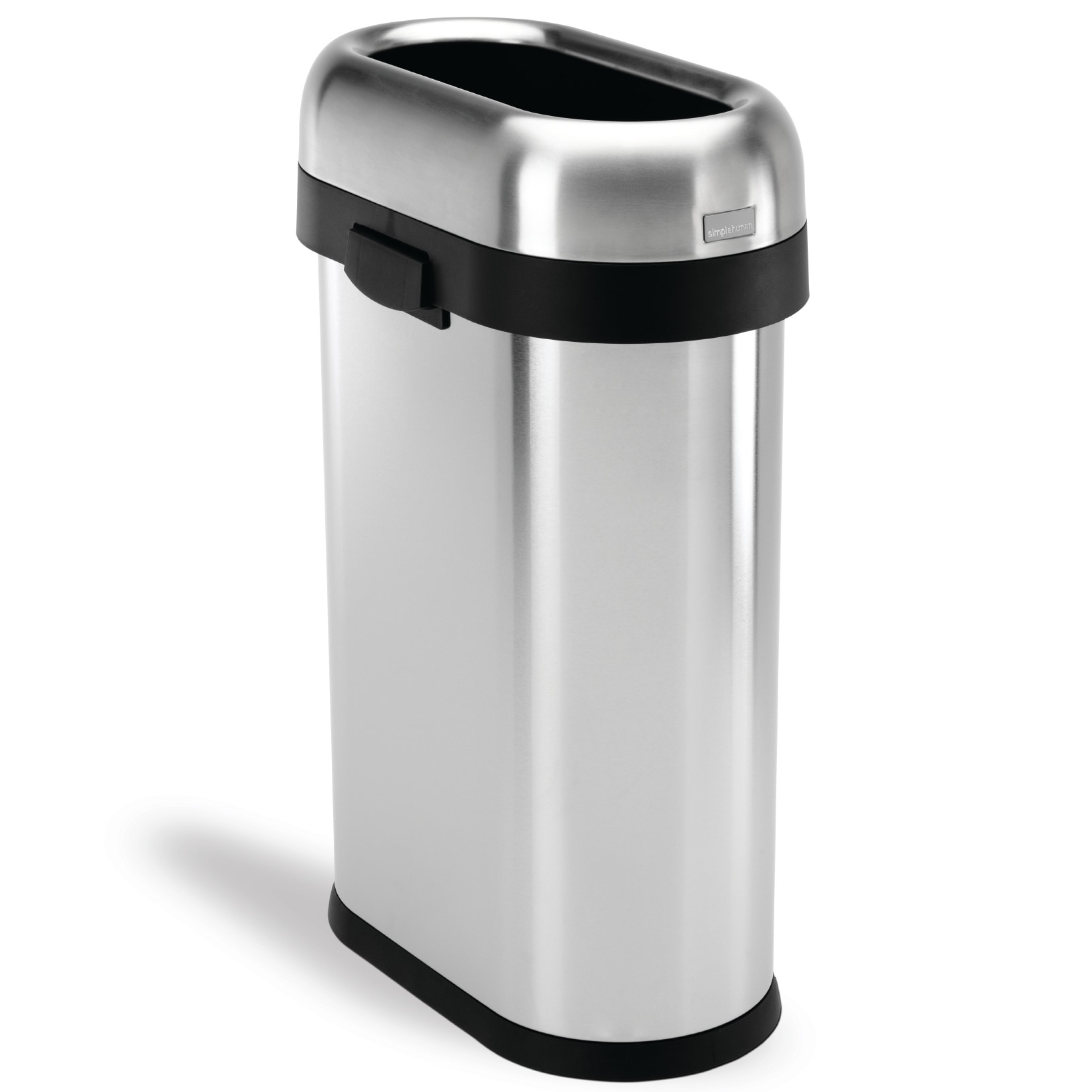 simplehuman Slim Open Brushed Stainless Steel Trash Can 13 gallons/ 50  liters