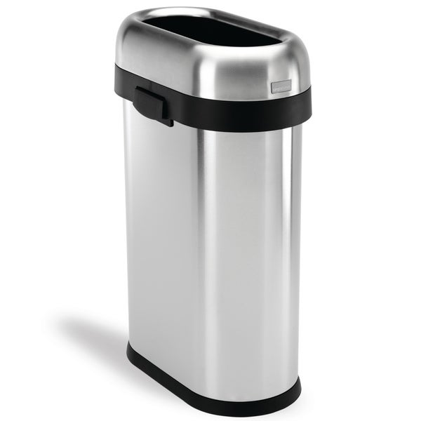Simplehuman Slim Open Brushed Stainless Steel 13 Gallon 50 Liter Trash Can Free Shipping Today