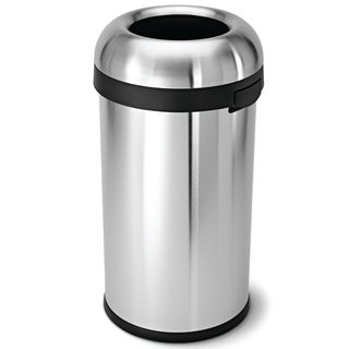 Simplehuman Bullet Open Brushed Stainless Steel 16-gallon Trash Can