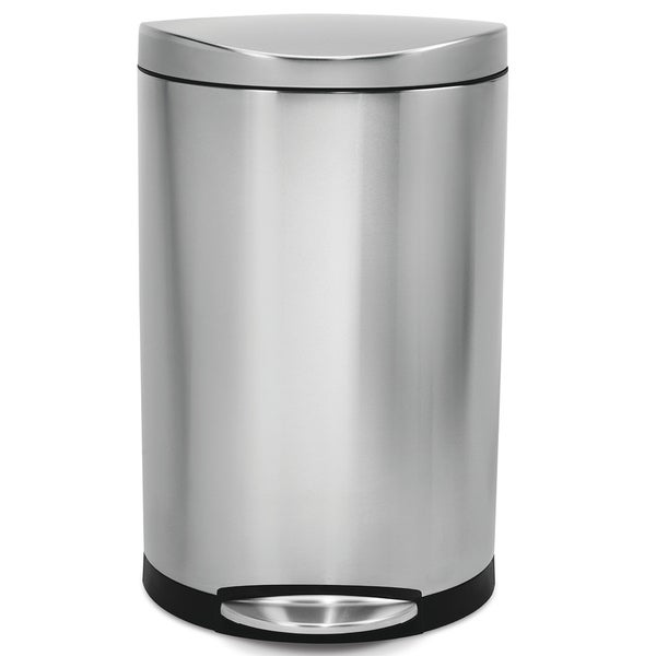 Stainless Steel Kitchen Garbage Can: Shop Simplehuman Semi-Round Step Brushed Stainless Steel