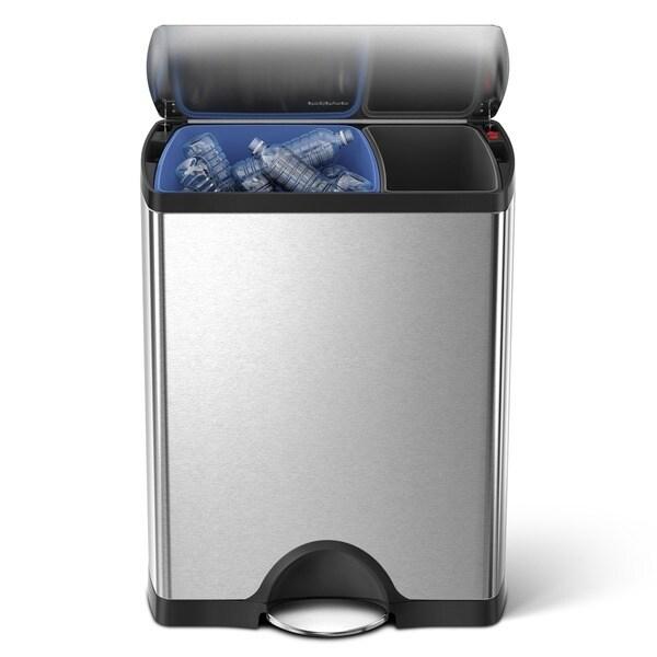 shop simplehuman 46l 12 gallon rectangular recycle bin step can