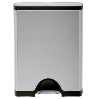 simplehuman Rectangular Step Brushed Stainless Steel Trash Can (13 Gallons)