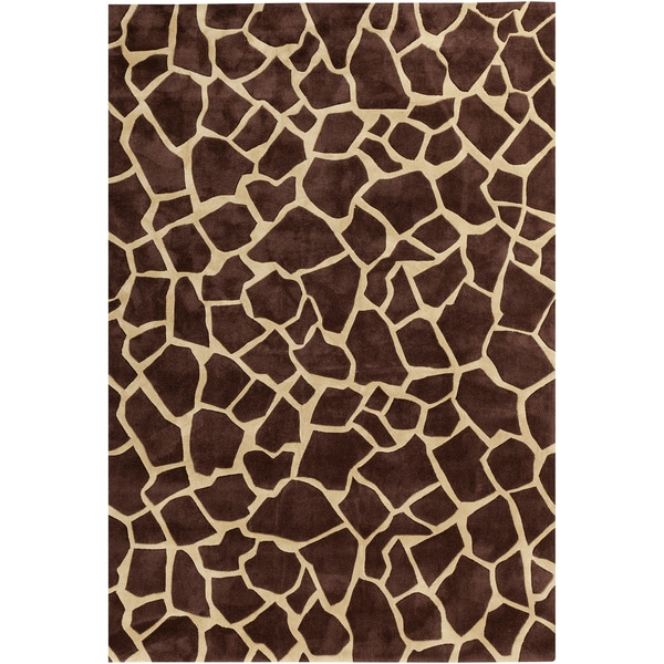 Hand-tufted Brown Contemporary Animal Pallaton Rug