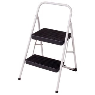 Cosco Cool Grey Two Step Household Folding Step Stool
