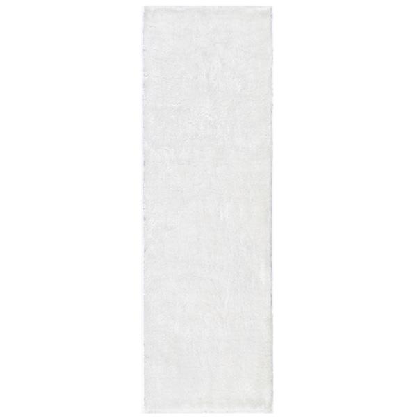 Handmade Posh White Shag Rug (2'3 x 8')