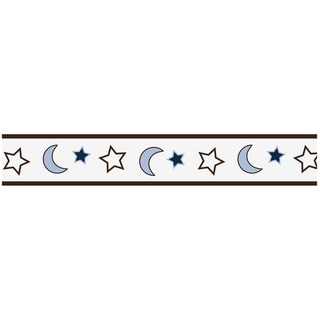 Sweet JoJo Designs Starry Night Stars and Moons Wall Border