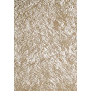 Handmade Posh White Shag Rug (5' x 7')