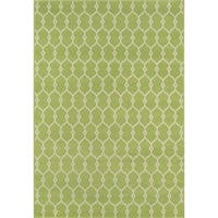 "Momeni Baja Trellis Green Indoor/Outdoor Area Rug - 8'6"" x 13'"