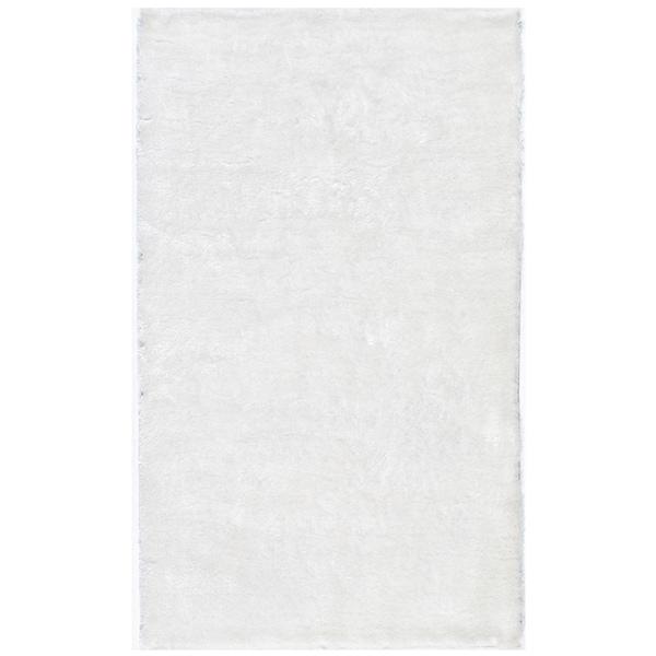 Momeni Luster Shag White Hand-Tufted Shag Rug - 3' x 5'