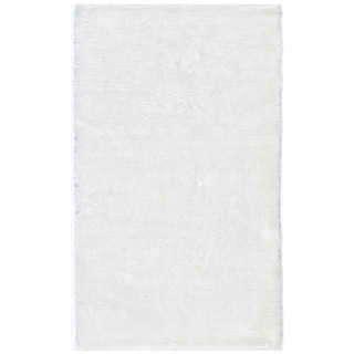 Handmade Posh White Shag Rug (3' x 5')