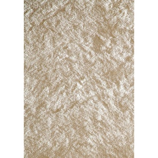 Handmade Posh White Shag Rug (2' x 3')