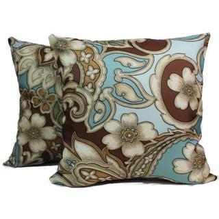 Ivonne Mocha 16-Inch Decorative Pillows (Set of 2)