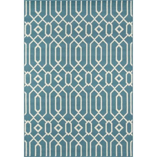 Momeni Baja Links Blue Indoor/Outdoor Area Rug  (1'8 x 3'7)
