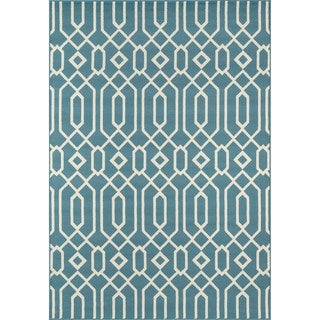 Momeni Baja Links Blue Indoor/Outdoor Area Rug (1'8 x 3'7) - Thumbnail 0