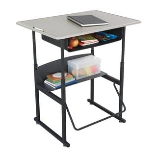 Safco Alphabetter 36 x 24-inch Standard Beige Top/ Black Frame Stand-up Desk with Swinging Footrest