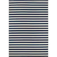 "Momeni Baja Stripe Navy Indoor/Outdoor Area Rug - 1'8"" x 3'7"""