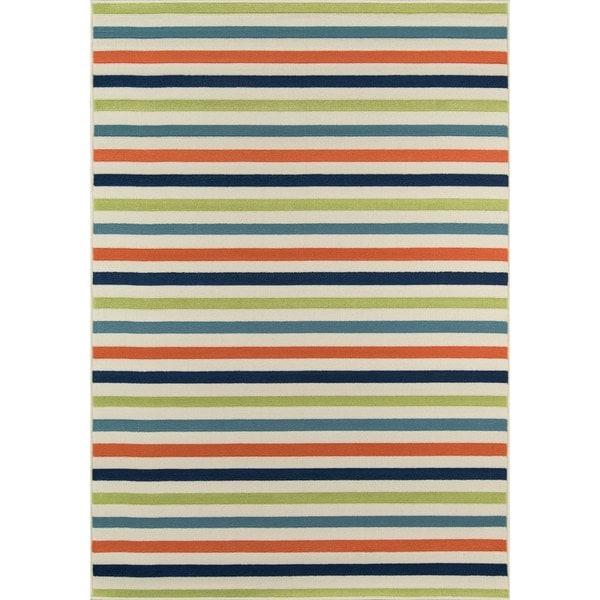 "Momeni Baja Stripe Multicolor Indoor/Outdoor Area Rug - 7'10"" x 10'10"""