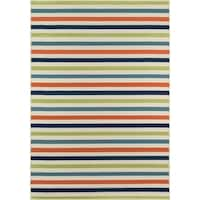 "Momeni Baja Stripe Multicolor Indoor/Outdoor Area Rug - 7'10"" x 10'10"""