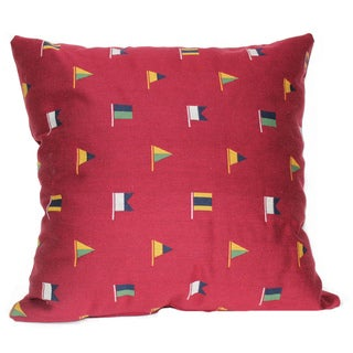 Flagship Cranberry 16-Inch Square Pillow